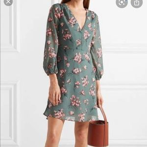 Madewell tiered floral-print Voile mini dress